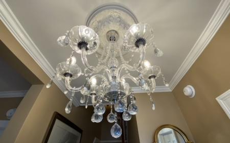 Chandelier in Foyer